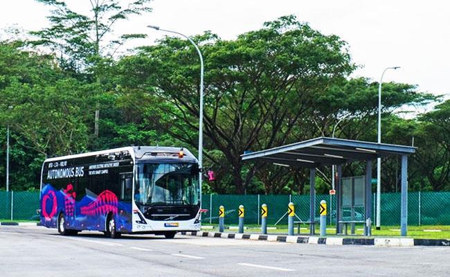 اتوبوس خوکار برقی ولوو در سنگاپور